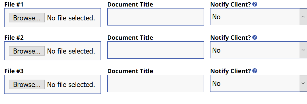 screenshot of page for attaching documents to conference